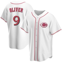 Joe Oliver Cincinnati Reds Men's Replica Home Jersey - White