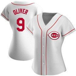 Joe Oliver Cincinnati Reds Women's Authentic Home Jersey - White