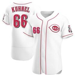 Joel Kuhnel Cincinnati Reds Men's Authentic Home Jersey - White
