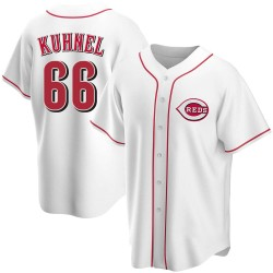 Joel Kuhnel Cincinnati Reds Men's Replica Home Jersey - White