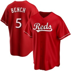 Johnny Bench Cincinnati Reds Youth Replica Alternate Jersey - Red