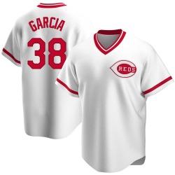 Jose Garcia Cincinnati Reds Men's Replica Home Cooperstown Collection Jersey - White