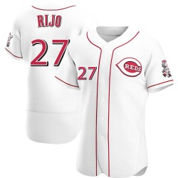 Jose Rijo Cincinnati Reds Men's Authentic Home Jersey - White