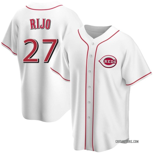 Jose Rijo Cincinnati Reds Men's Replica Home Jersey - White
