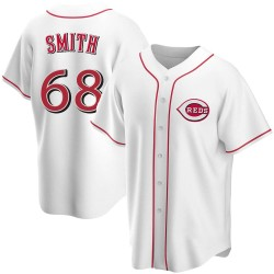 Josh Smith Cincinnati Reds Youth Replica Home Jersey - White