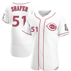 Justin Shafer Cincinnati Reds Men's Authentic Home Jersey - White