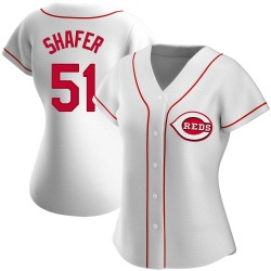 Justin Shafer Cincinnati Reds Women's Authentic Home Jersey - White