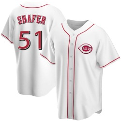 Justin Shafer Cincinnati Reds Youth Replica Home Jersey - White