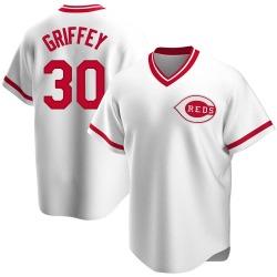 Ken Griffey Cincinnati Reds Men's Replica Home Cooperstown Collection Jersey - White