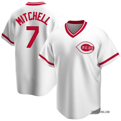 Kevin Mitchell Cincinnati Reds Men's Replica Home Cooperstown Collection Jersey - White