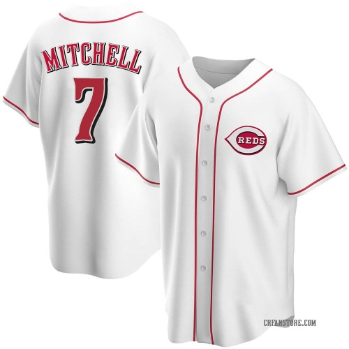 Kevin Mitchell Cincinnati Reds Youth Replica Home Jersey - White