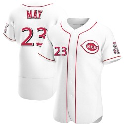 Lee May Cincinnati Reds Men's Authentic Home Jersey - White