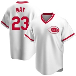 Lee May Cincinnati Reds Men's Replica Home Cooperstown Collection Jersey - White