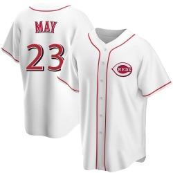 Lee May Cincinnati Reds Men's Replica Home Jersey - White