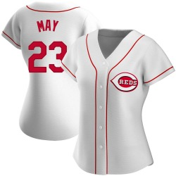 Lee May Cincinnati Reds Women's Authentic Home Jersey - White