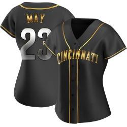 Lee May Cincinnati Reds Women's Replica Alternate Jersey - Black Golden