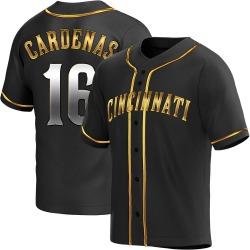 Leo Cardenas Cincinnati Reds Men's Replica Alternate Jersey - Black Golden