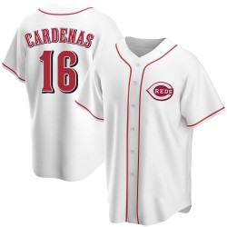 Leo Cardenas Cincinnati Reds Men's Replica Home Jersey - White
