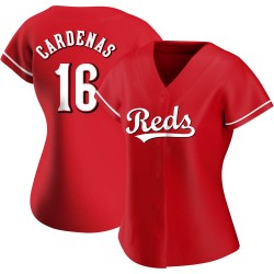 Leo Cardenas Cincinnati Reds Women's Authentic Alternate Jersey - Red