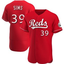 Lucas Sims Cincinnati Reds Men's Authentic Alternate Jersey - Red