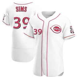 Lucas Sims Cincinnati Reds Men's Authentic Home Jersey - White