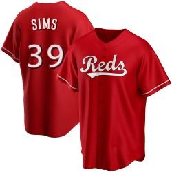 Lucas Sims Cincinnati Reds Men's Replica Alternate Jersey - Red