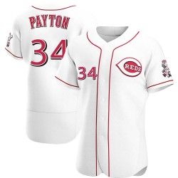 Mark Payton Cincinnati Reds Men's Authentic Home Jersey - White
