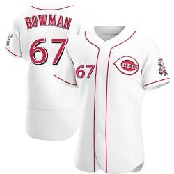 Matt Bowman Cincinnati Reds Men's Authentic Home Jersey - White