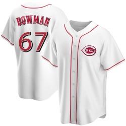 Matt Bowman Cincinnati Reds Youth Replica Home Jersey - White