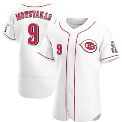 Mike Moustakas Cincinnati Reds Men's Authentic Home Jersey - White