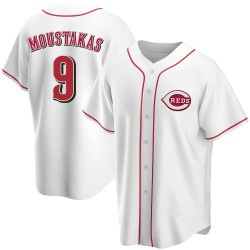 Mike Moustakas Cincinnati Reds Youth Replica Home Jersey - White