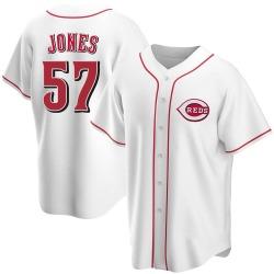 Nate Jones Cincinnati Reds Men's Replica Home Jersey - White