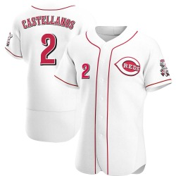Nicholas Castellanos Cincinnati Reds Men's Authentic Home Jersey - White