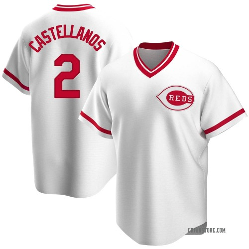 Nicholas Castellanos Cincinnati Reds Men's Replica Home Cooperstown Collection Jersey - White