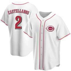 Nicholas Castellanos Cincinnati Reds Youth Replica Home Jersey - White