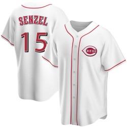 Nick Senzel Cincinnati Reds Youth Replica Home Jersey - White