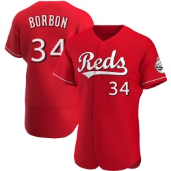 Pedro Borbon Cincinnati Reds Men's Authentic Alternate Jersey - Red