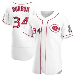 Pedro Borbon Cincinnati Reds Men's Authentic Home Jersey - White