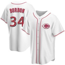 Pedro Borbon Cincinnati Reds Men's Replica Home Jersey - White