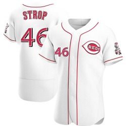 Pedro Strop Cincinnati Reds Men's Authentic Home Jersey - White
