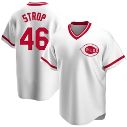 Pedro Strop Cincinnati Reds Men's Replica Home Cooperstown Collection Jersey - White