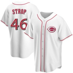 Pedro Strop Cincinnati Reds Men's Replica Home Jersey - White