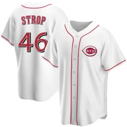 Pedro Strop Cincinnati Reds Youth Replica Home Jersey - White