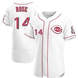 Pete Rose Cincinnati Reds Men's Authentic Home Jersey - White