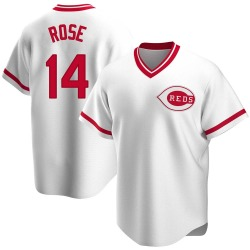 Pete Rose Cincinnati Reds Men's Replica Home Cooperstown Collection Jersey - White