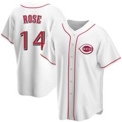 Pete Rose Cincinnati Reds Men's Replica Home Jersey - White