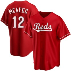 Quincy Mcafee Cincinnati Reds Youth Replica Alternate Jersey - Red