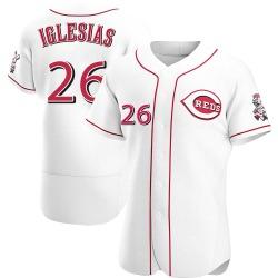 Raisel Iglesias Cincinnati Reds Men's Authentic Home Jersey - White