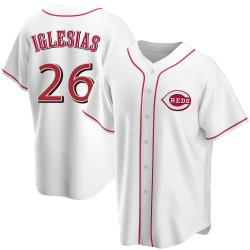 Raisel Iglesias Cincinnati Reds Men's Replica Home Jersey - White