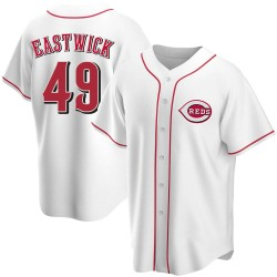 Rawly Eastwick Cincinnati Reds Men's Replica Home Jersey - White